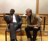 Mike Abiola (left) Photo: David Wriglesworth