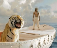 """Life Of Pi"" follows the story of a man and a tiger on a boat Photo: 20th Century Fox"