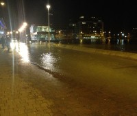The flooding caused problems for vehicles driving along the Brayford Waterfront. Photo: David Wriglesworth