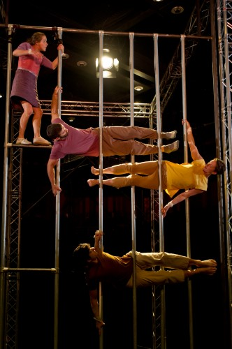 Ockham's Razor returned to Lincoln, performing stunning aerial theatre.