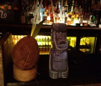 The Captain Coconut and The Moai cocktails. Photo: David Wriglesworth