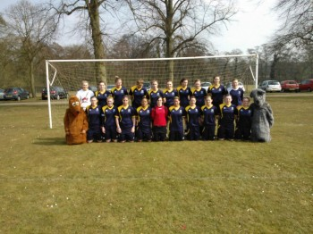 The victorious women's football team - winning 2-1 at Riseholme earlier. Photo: Josh Francis