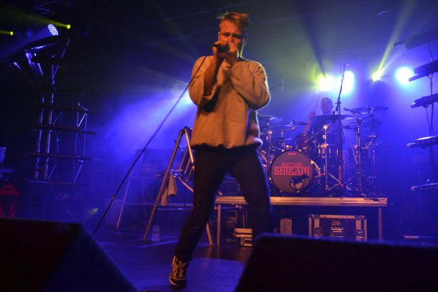 Photo: Frontman Rou Reynolds was full of energy during Enter Shikari's Lincoln tour date. Photo: Hannah Gilbey
