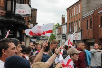 The East Anglian Patriots at their last demonstration in Lincoln.