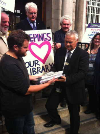 A demonstration earlier this year to 'save Lincolnshire libraries'. Photo: Chris Gray