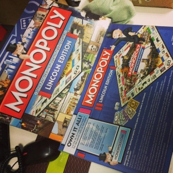 The new Lincoln Monopoly game. Photo: Dan Walker