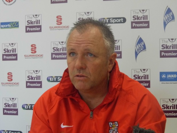Gary Simpson was in positive spirits at today's press conference. Photo: Paul Battison