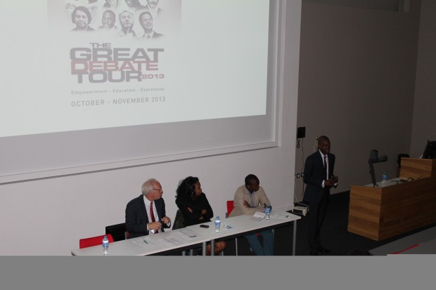The Great Debate Tour at the University of Lincoln. Photo: Femi Awoyemi
