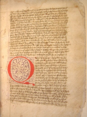 The manuscript gifted to the University of Lincoln