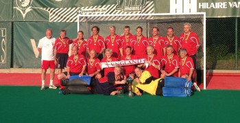 The England over 60s hockey team who won the European Finals this August