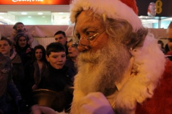 Santa was also present at the Christmas lights turn-on. Photo: Alice Eagle