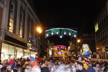 Lincoln High Street, full for the Christmas lights turn-on. Photo: Alice Eagle