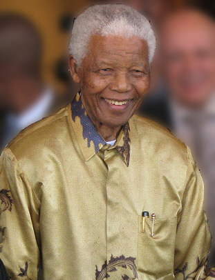 Nelson Mandela. Photo via Wikipedia