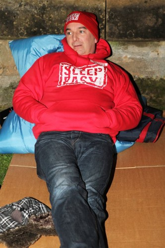Malcolm Barham, Chief Executive of Lincolnshire YMCA at least year's sleep-out. Photo: Mark Hills