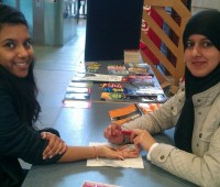 Students were able to get henna at one of the stalls during the Discover Islam Week. Photo: University of Lincoln Islamic Society