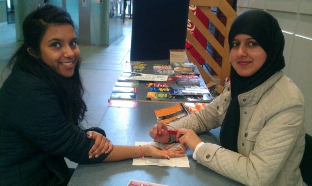 Students were able to get henna (pictured above) at one of the stalls during the Discover Islam Week. Photo: University of Lincoln Islamic Society