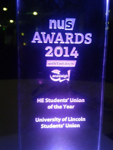 NUS students' union of the year trophy