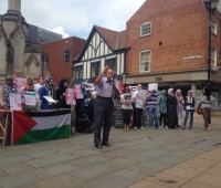 Lincoln Palestinian solidarity protest