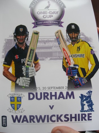 The two team captains looked ready to do battle, even in the match programme. Image: Daniel Baker