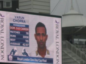 Varun Chopra led by example with wickets falling left, right and centre. Image: Daniel Baker