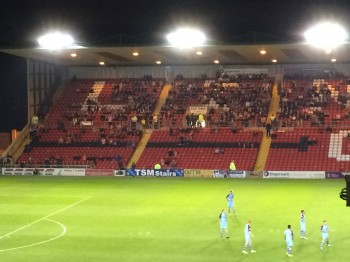 544 students from the City watched the match from the Co-op stand at Sincil Bank