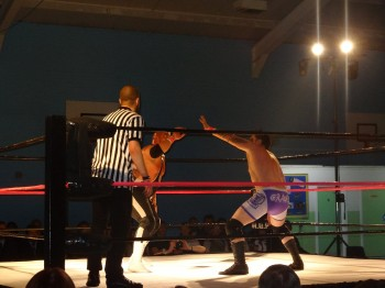 The wrestlers, who donated all their wages to the event, raised over £2,300. Photo: Aaron Renfree