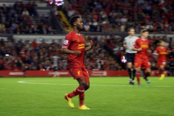 Raheem Sterling playing for Liverpool. Should he have started for England on Sunday? Photo: Kevin Walsh (via Flickr)