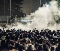 Tear gas used against Hong Kong protesters