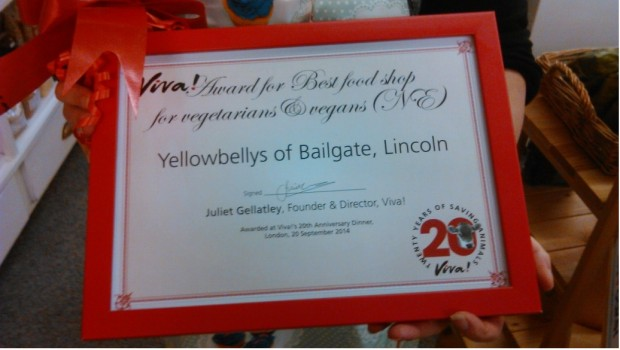The award won by Yellowbellys. Photo: Rebecca Marrow