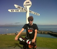 Owen Bellwood before riding Jon O'Groats to London | Photo Credit: Owen Bellwood
