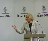 The Home Secretary Theresa May today announced measures to prevent students from being recruited by terrorists.  Photo: Home Office