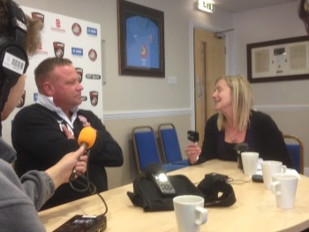 Chris Moyses took questions from the media ahead of Saturday's visit to Eastleigh