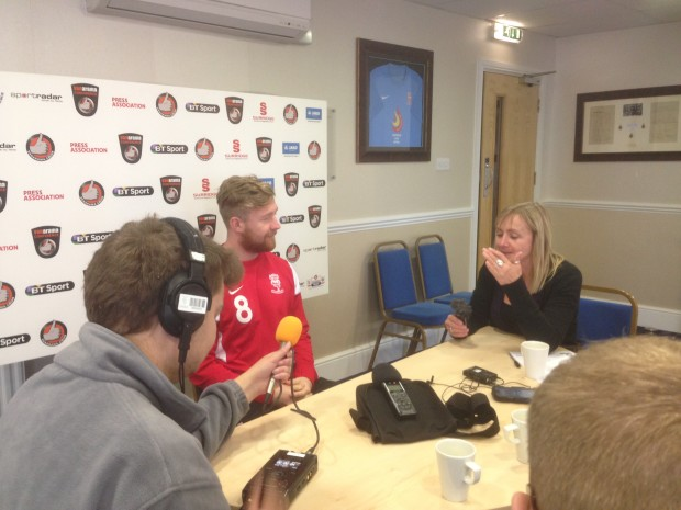 Alan Power is enjoying his advanced midfield role (Photo: LincSport)