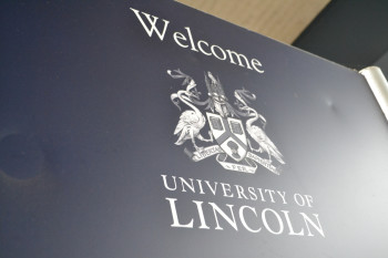 University of Lincoln sign