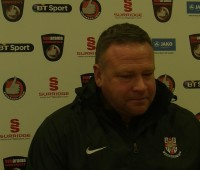 Chris Moyses in action ahead of Saturday's trip to Macclesfield