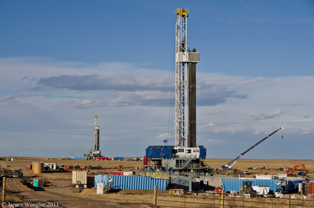 Fracking well in Colorado, USA. Photo: James Wengler via Flickr