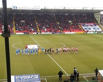 Lincoln's seven match winning streak at Sincil Bank came to an end