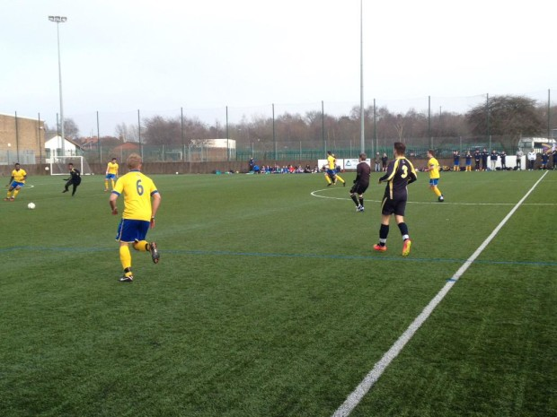 University of Lincoln Men's Football squad, playing football, evidently