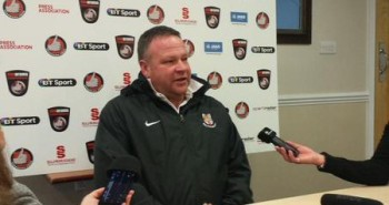 Chris Moyses is wary of the threat Kidderminster pose