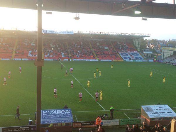 Bromley end Lincoln City's unbeaten home record at Sincil Bank this season. Photo: Samuel Gilbert
