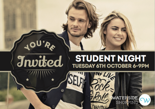 Waterside student night poster