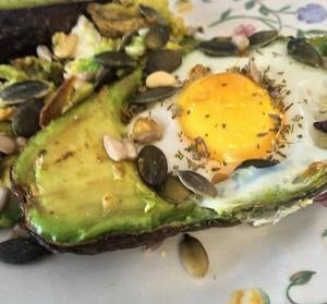 'Heavenly Egg Baked Avocado' Photo by Natasha Bailey