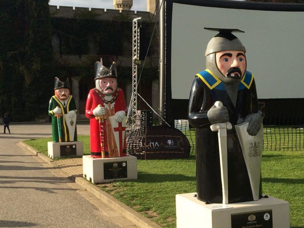 three of the Barons in the grounds of Lincoln Castle