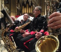 band playing at Lincoln Cathedral