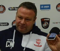Chris Moyseshas been in charge of Lincoln City for nearly a year and a half. (Photo: Danny Adamson)