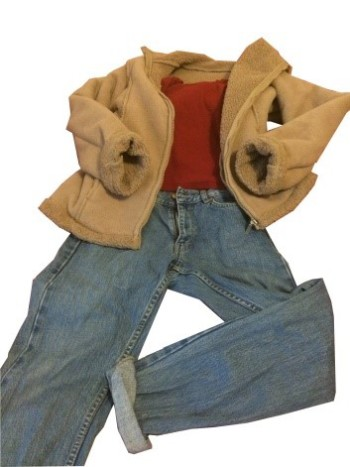 Pictured is an ideal winter outfit - vintage coat, Zara top (£10) and Topshop Mom Jeans. Photo: Michelle Carroll.