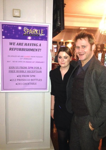Front of house staff member, Sophie Chapman with restaurant manager Sean Keverne