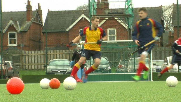Lindum men's playing hockey (Photo: Elliott Dalton)