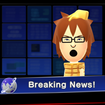 Mii in a 'breaking news' studio