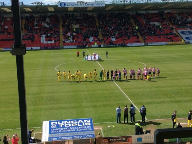 Woking beat Lincoln City 3-2 in the Imps' final home game of the season. Photo: Adam Tomlinson